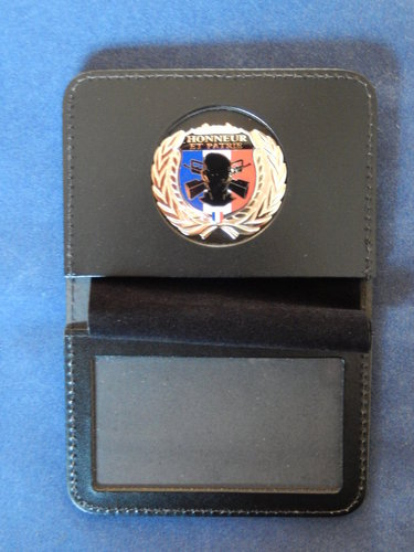 Badge holder book for badge Honor and Country