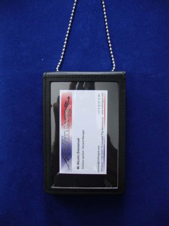 porte carte tour de cou Porte carte insigne universel tour de cou pour Gendarmerie