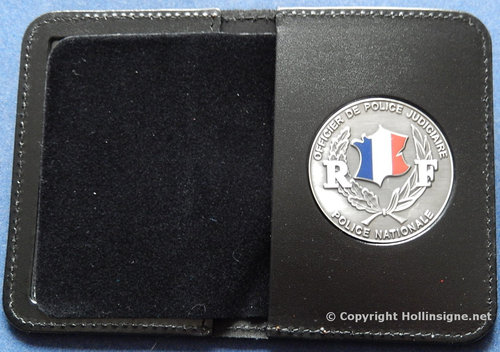 Badge holder for badge for  the french police