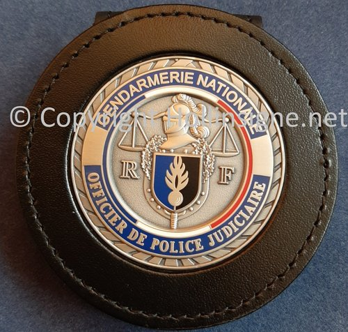 Badge holder with badge for  the french Gendarmerie