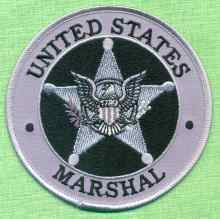 Ecusson US Marshal gris