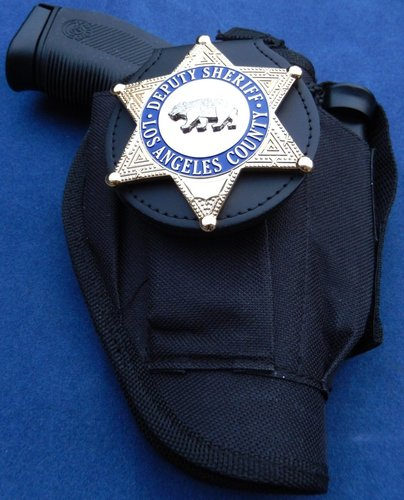 Badge holder clip on CHP