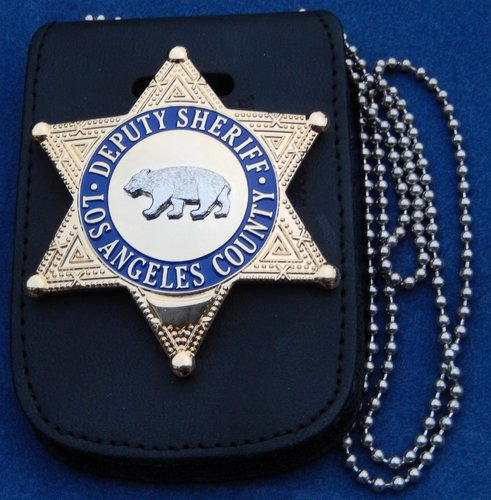 Badge holderneck chain LA SD