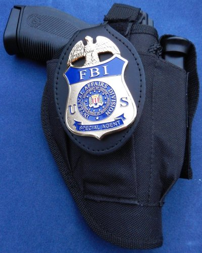 Badge holder clip on FBI IA